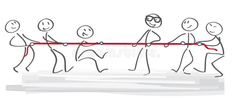 Σύγκρουση - απεικόνιση διανυσματική απεικόνιση
