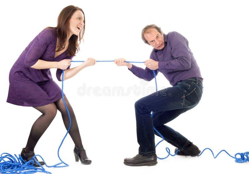 Σύγκρουση γυναικών και ανδρών στοκ φωτογραφία με δικαίωμα ελεύθερης χρήσης
