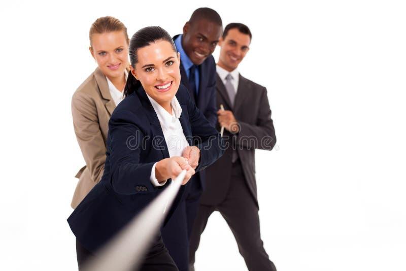 Σύγκρουση επιχειρηματιών στοκ εικόνες με δικαίωμα ελεύθερης χρήσης