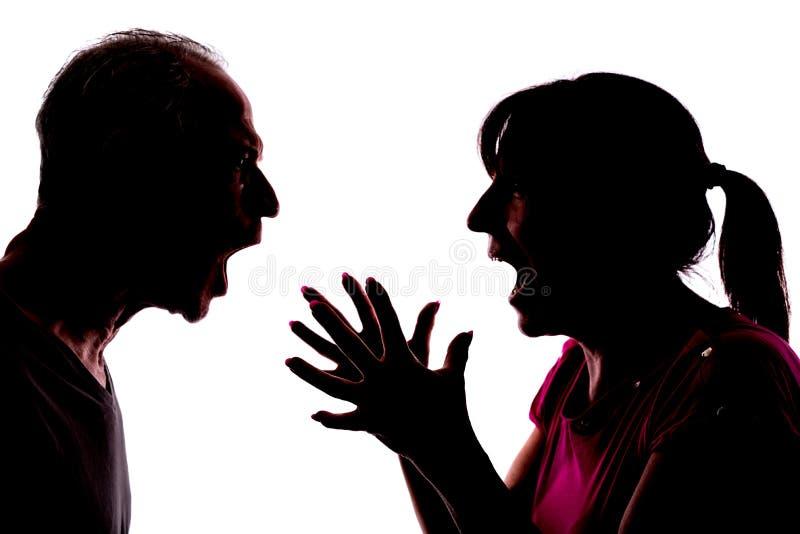 Σύγκρουση μεταξύ του ζεύγους στοκ φωτογραφίες με δικαίωμα ελεύθερης χρήσης