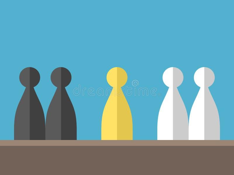 Σύγκρουση μεταξύ των διάφορων ομάδων ελεύθερη απεικόνιση δικαιώματος