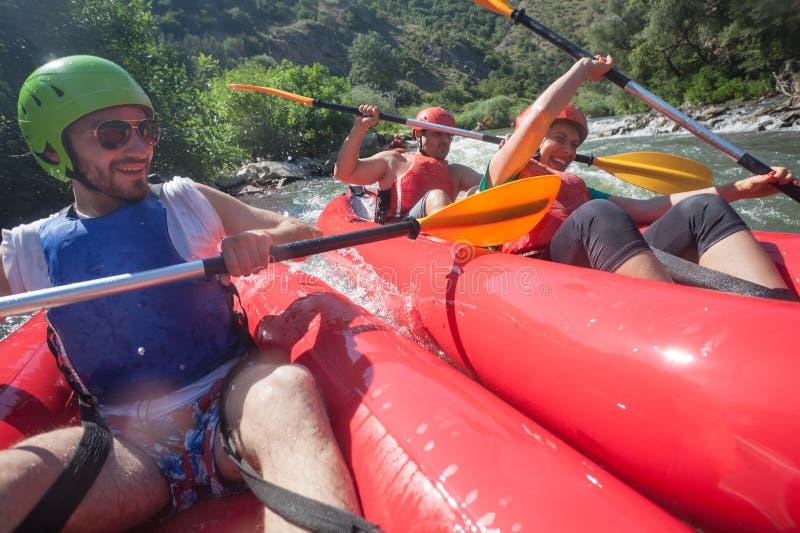 Σύγκρουση ποταμών κανό στοκ εικόνες με δικαίωμα ελεύθερης χρήσης