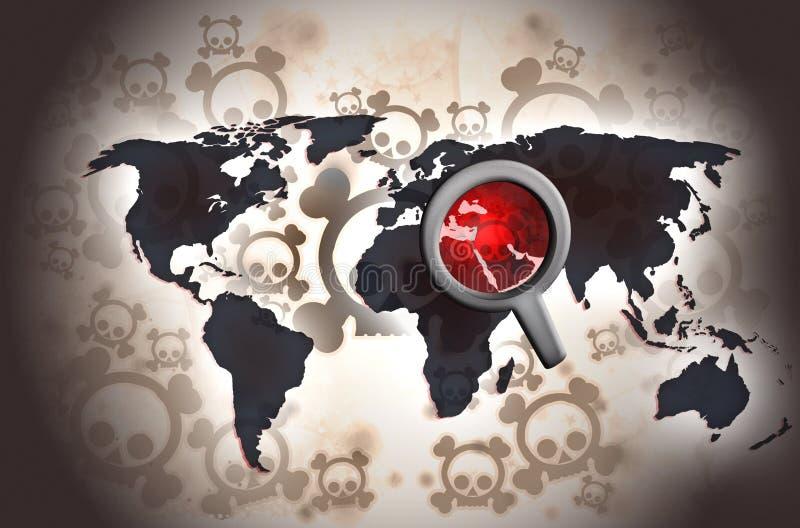 Σύγκρουση της Μέσης Ανατολής διανυσματική απεικόνιση