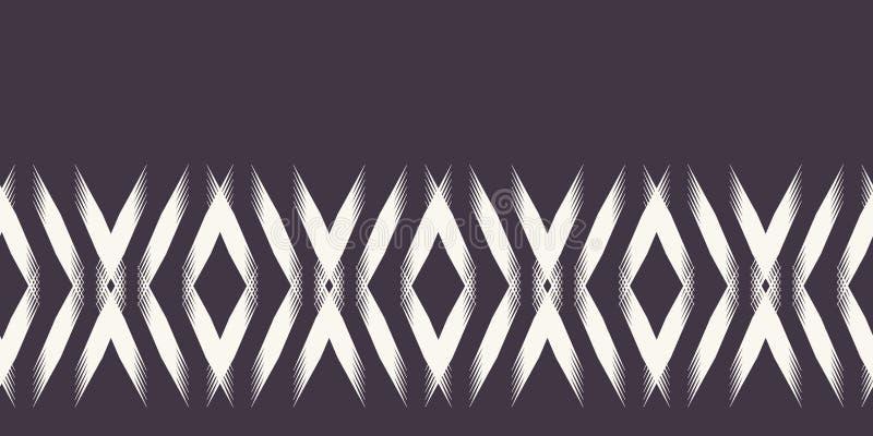 Σύγχρονα γεωμετρικά συρμένα χέρι υφαμένα σύνορα διαμαντιών Επανάληψη της αφηρημένης περιποίησης κορδελλών σιριτιών κλίσης Διακοσμ ελεύθερη απεικόνιση δικαιώματος