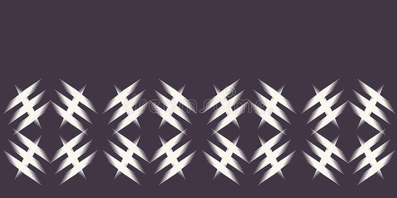 Σύγχρονα γεωμετρικά συρμένα χέρι υφαμένα σύνορα ύφους χρωστικών ουσιών δεσμών Επανάληψη του αφηρημένου υποβάθρου κλίσης Διακοσμητ διανυσματική απεικόνιση