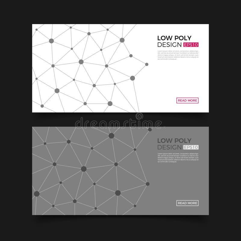 Σύγχρονα διανυσματικά πρότυπα Αφηρημένο γεωμετρικό υπόβαθρο με τις συνδεδεμένα γραμμές και τα σημεία Επιχείρηση, επιστήμη, ιατρικ απεικόνιση αποθεμάτων
