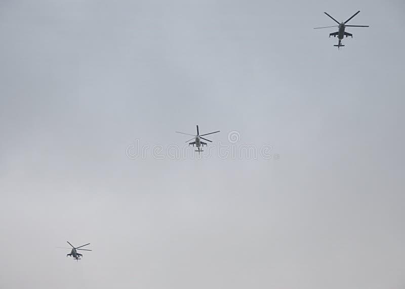 Σύγχρονα ελικόπτερα στρατού στοκ φωτογραφία