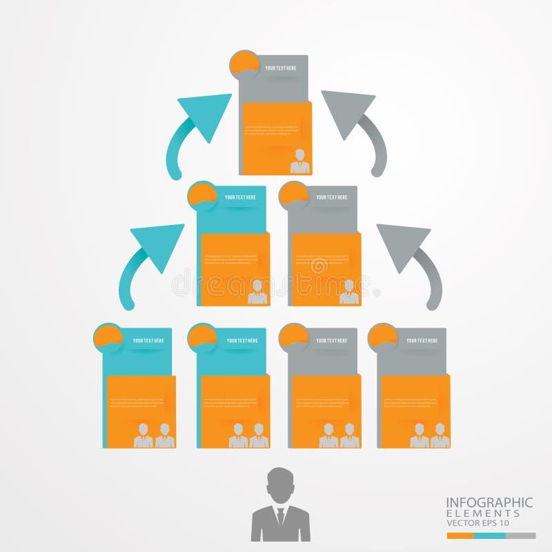 Σύγχρονα επιχειρησιακά βήματα στο έμβλημα επιλογών διαγραμμάτων και γραφικών παραστάσεων επιτυχίας σύγχρονο πρότυπο σχεδίο&upsil διανυσματική απεικόνιση