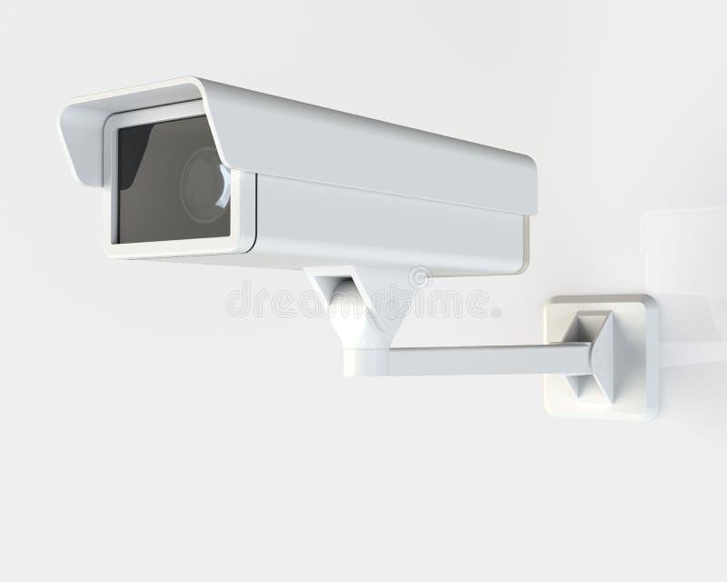 Σύγχρονα κάμερα ασφαλείας που τοποθετούνται στο κτήριο ελεύθερη απεικόνιση δικαιώματος