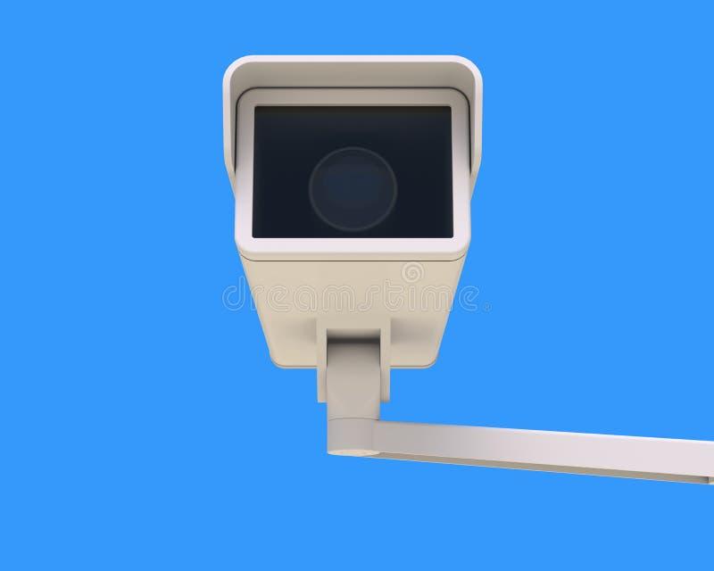 Σύγχρονα κάμερα ασφαλείας που τοποθετούνται στο κτήριο απεικόνιση αποθεμάτων