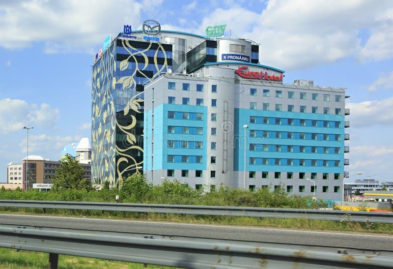 Σύγχρονα κτίρια γραφείων στην Πράγα στοκ εικόνα