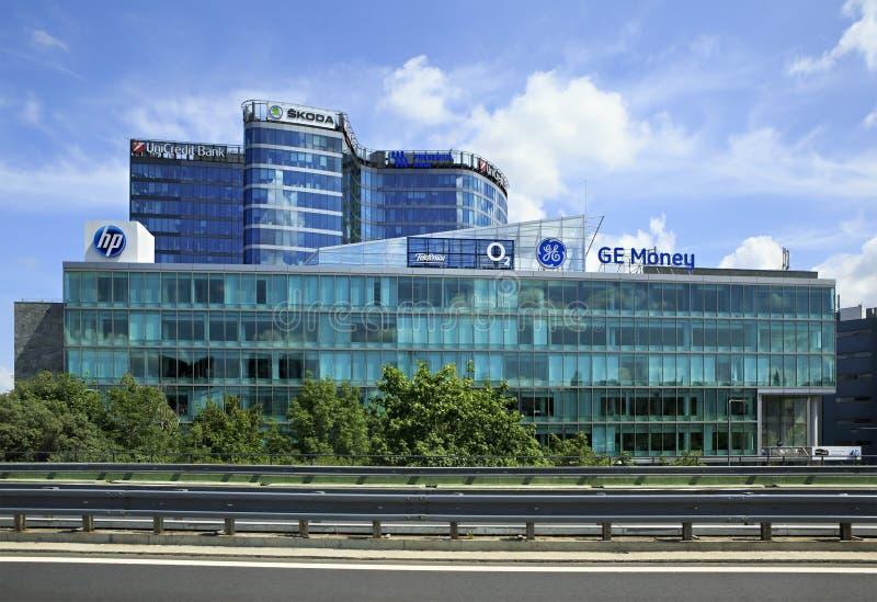 Σύγχρονα κτίρια γραφείων στην Πράγα στοκ φωτογραφία με δικαίωμα ελεύθερης χρήσης