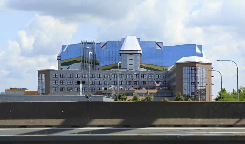 Σύγχρονα κτίρια γραφείων στην Πράγα στοκ εικόνες