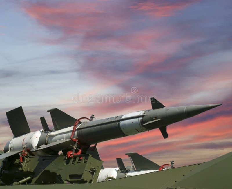 Σύγχρονα ρωσικά αντιαεροπορικά βλήματα 5V27DE στοκ εικόνα