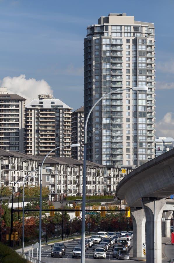 σύγχρονα townhouses του Καναδά κτ&et στοκ εικόνα
