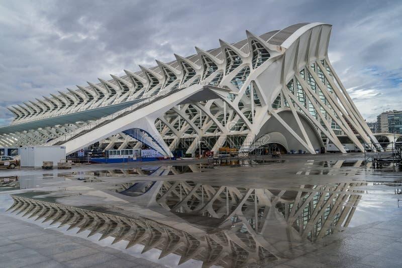 Σύγχρονες αντανακλάσεις, Βαλένθια, Ισπανία στοκ φωτογραφία