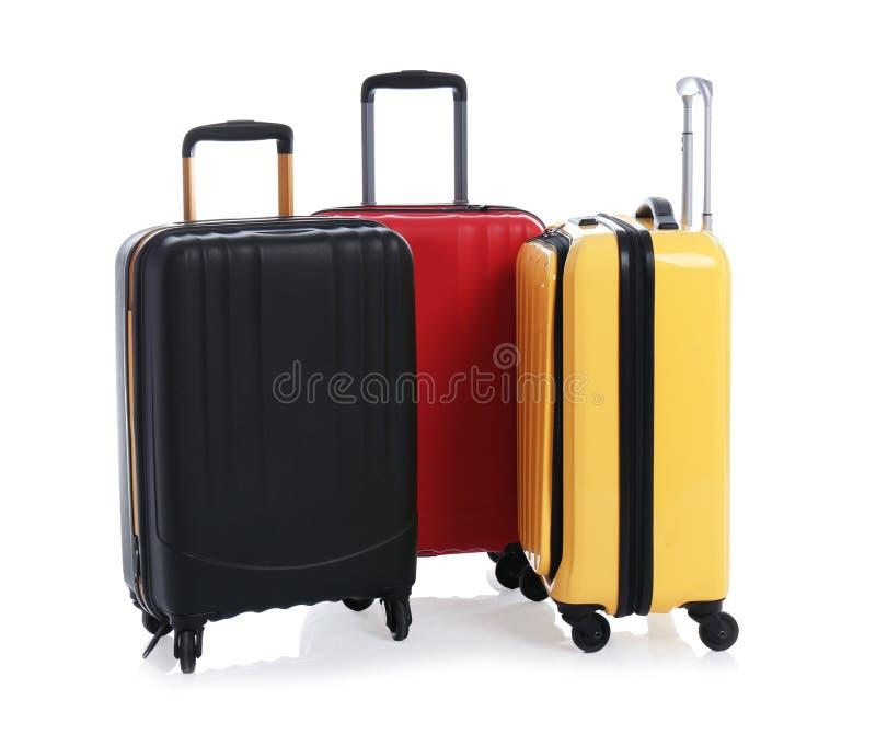 Σύγχρονες βαλίτσες για το ταξίδι στοκ εικόνες με δικαίωμα ελεύθερης χρήσης