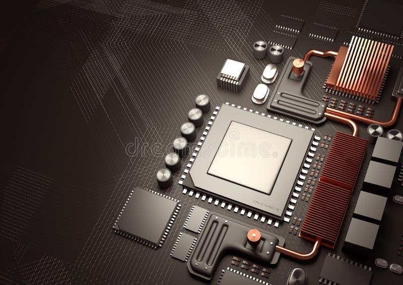Σύγχρονες κυκλώματα και τεχνολογία μικροϋπολογιστών απεικόνιση αποθεμάτων