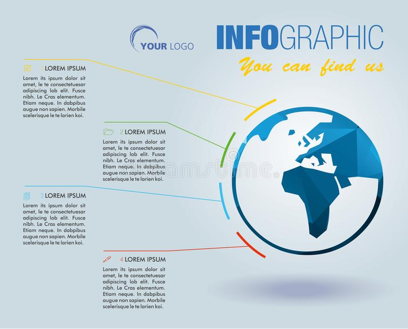 Σύγχρονες πληροφορίες γραφικές με το πολύγωνο, διάνυσμα προτύπων επιλογών Μπορέστε β ελεύθερη απεικόνιση δικαιώματος
