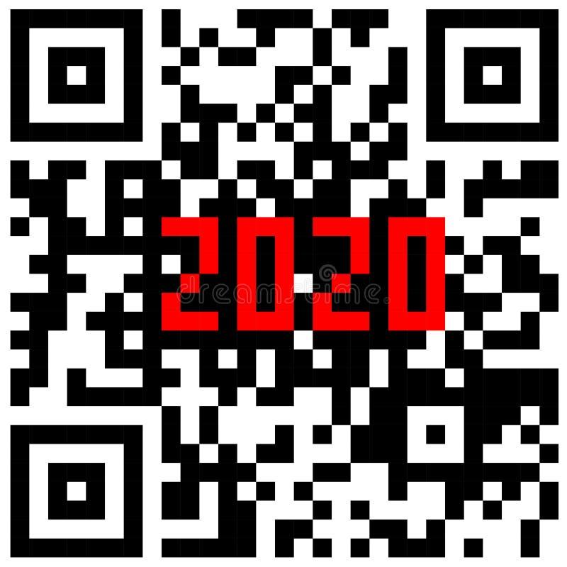 Σύγχρονες τεχνολογίες 2020 που γράφεται μέσα σε έναν κώδικα QR απεικόνιση αποθεμάτων