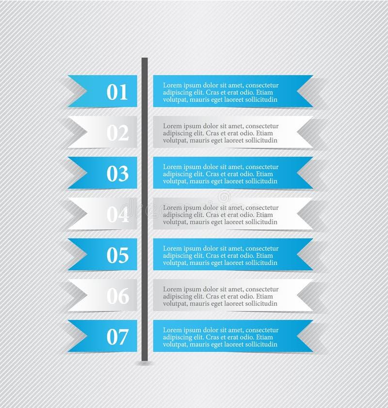 Σύγχρονες infographic άσπρες και μπλε σημειώσεις αυτοκόλλητων ετικεττών προτύπων σχεδίου διανυσματική απεικόνιση