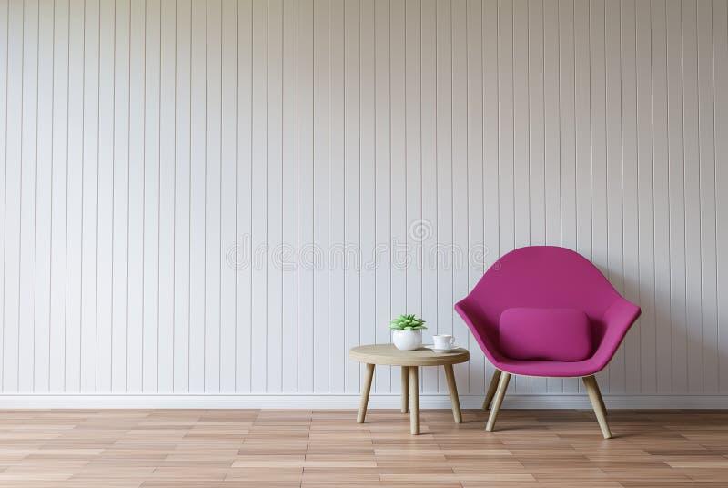 Σύγχρονη άσπρη τρισδιάστατη δίνοντας εικόνα ύφους καθιστικών εκλεκτής ποιότητας διανυσματική απεικόνιση