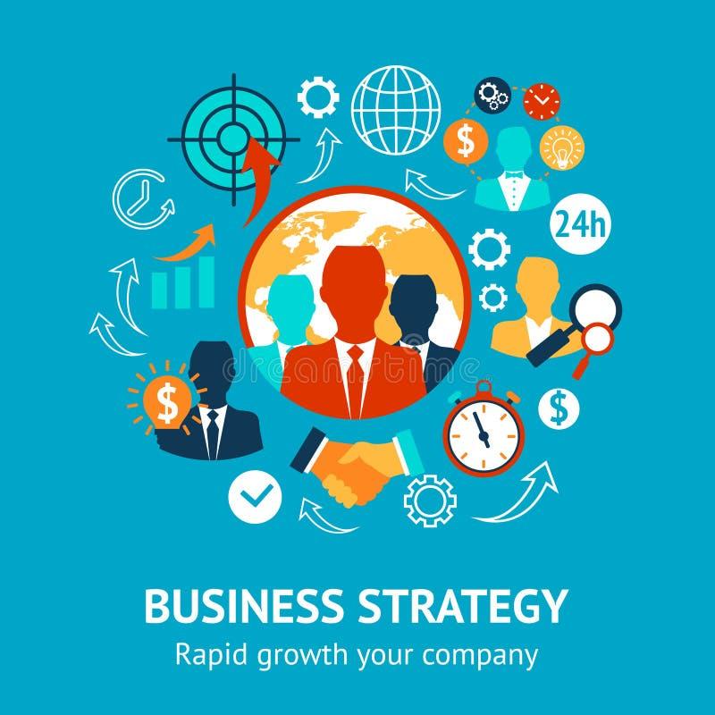 Σύγχρονη έννοια επιχειρήσεων και διαχείρισης ελεύθερη απεικόνιση δικαιώματος