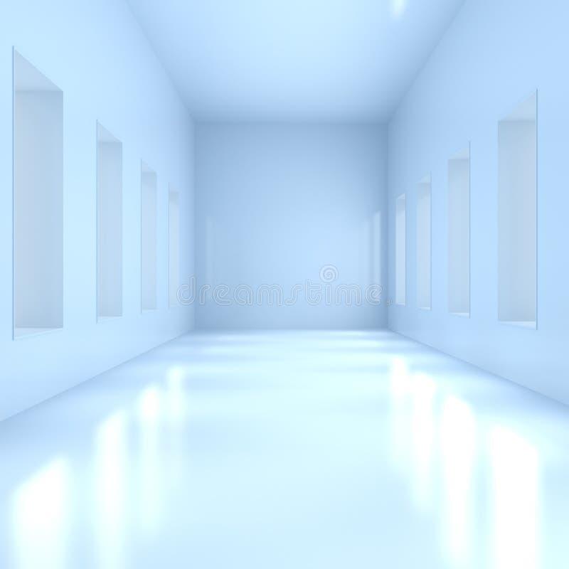 σύγχρονη αίθουσα ευρέω&sigmaf διανυσματική απεικόνιση