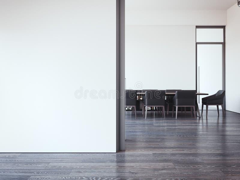 Σύγχρονη αίθουσα συνεδριάσεων των γραφείων τρισδιάστατη απόδοση στοκ εικόνα