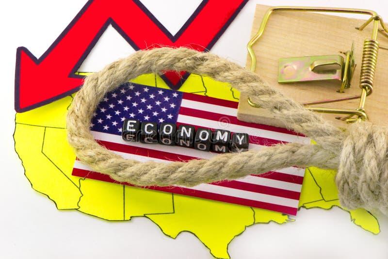 Σύγχρονη αμερικανική οικονομία στοκ φωτογραφία με δικαίωμα ελεύθερης χρήσης