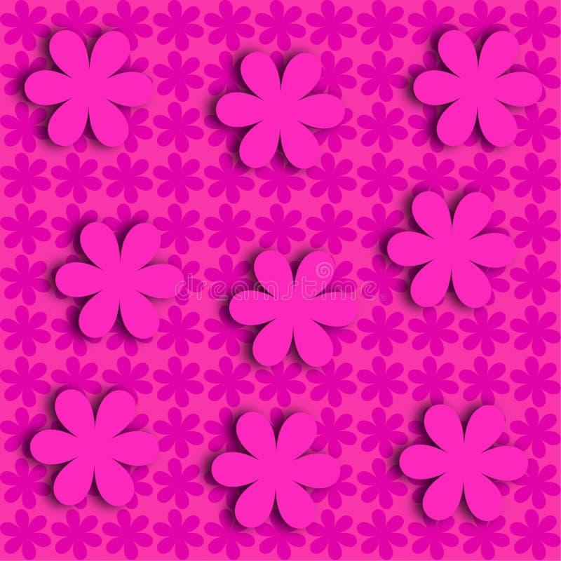Σύγχρονη απεικόνιση ενός επίπεδου ρόδινου υποβάθρου λουλουδιών στοκ φωτογραφίες με δικαίωμα ελεύθερης χρήσης