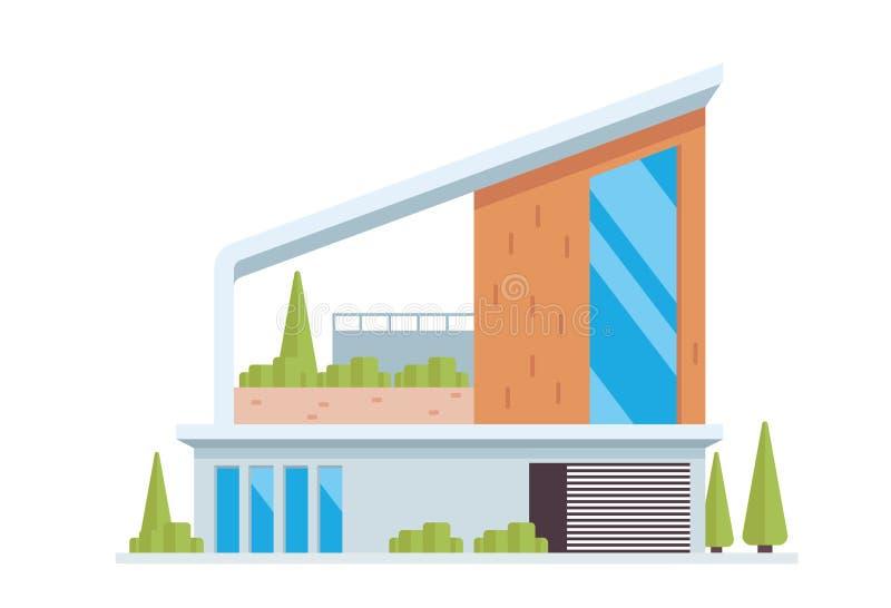 Σύγχρονη απεικόνιση οικοδόμησης πολυτέλειας σύγχρονη διανυσματική απεικόνιση