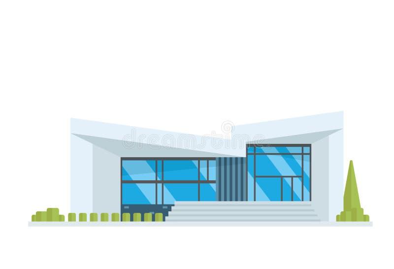 Σύγχρονη απεικόνιση οικοδόμησης πολυτέλειας σύγχρονη ελεύθερη απεικόνιση δικαιώματος