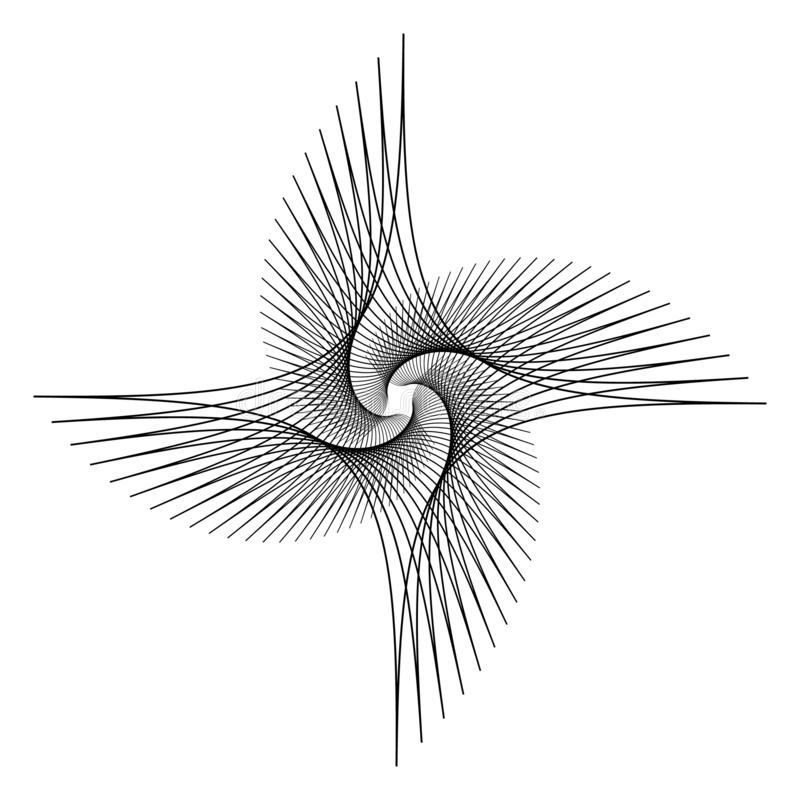 Σύγχρονη απεικόνιση τέχνης γραμμών με το λογότυπο τέχνης γραμμών Γραμμικός γραφικός Αφηρημένο λογότυπο τεχνολογίας Καθιερώνουσα τ απεικόνιση αποθεμάτων