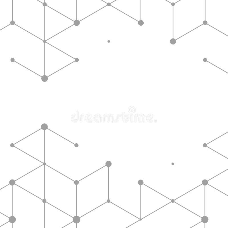 Σύγχρονη απεικόνιση τεχνολογίας με το τετραγωνικό πλέγμα ελεύθερη απεικόνιση δικαιώματος