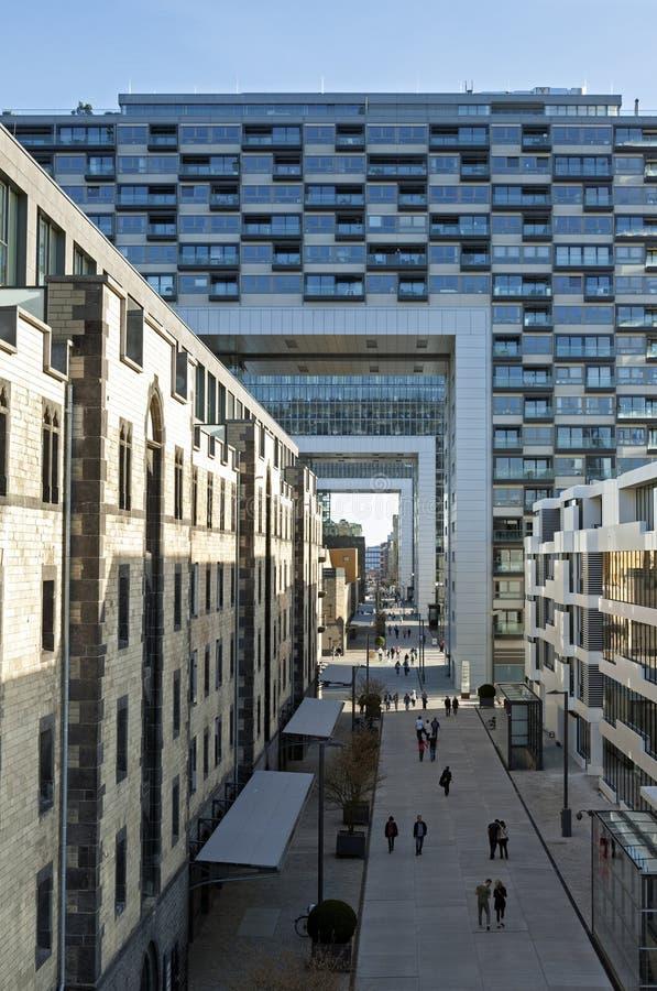 Σύγχρονη αρχιτεκτονική, οδός αγορών, Κολωνία στοκ φωτογραφία