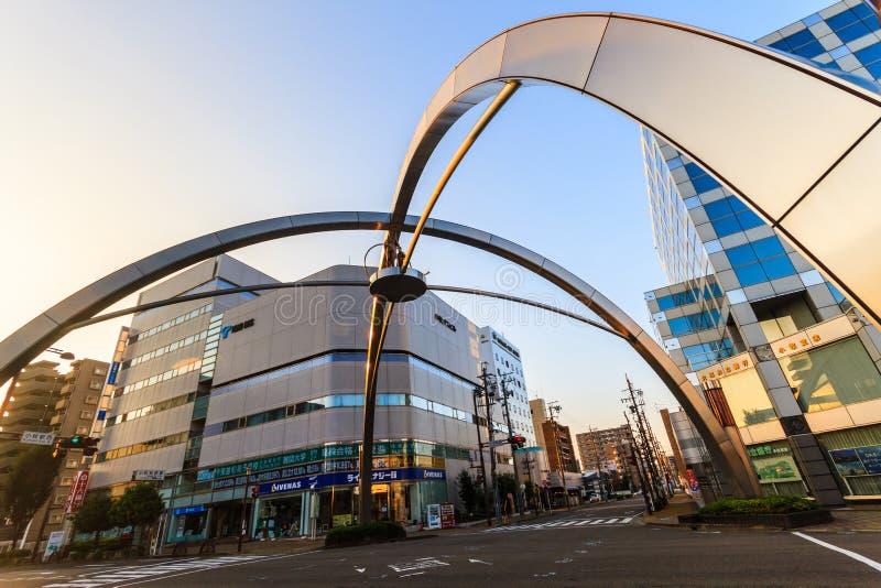 Σύγχρονη αρχιτεκτονική στην πόλη Komaki Aichi, JapanDetail στοκ εικόνες