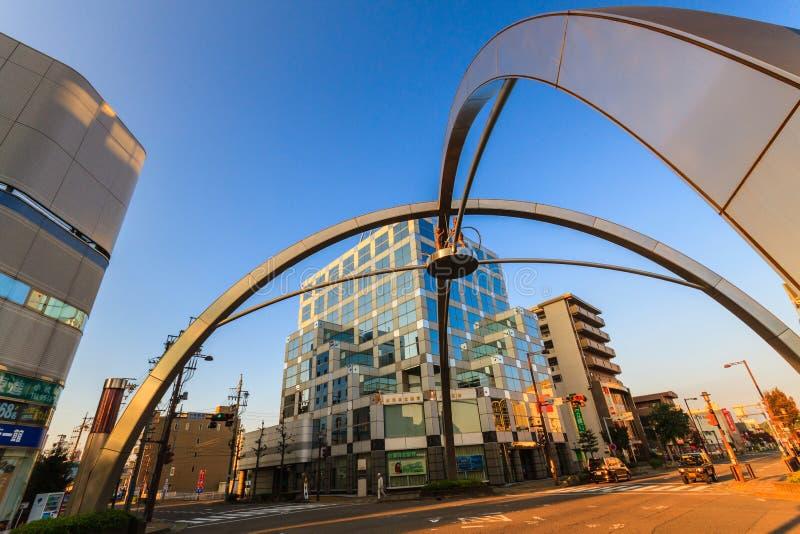 Σύγχρονη αρχιτεκτονική στην πόλη Komaki Aichi, JapanDetail στοκ φωτογραφία με δικαίωμα ελεύθερης χρήσης