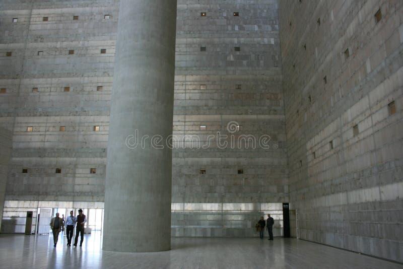 Σύγχρονη αρχιτεκτονική στο κτήριο Caja Γρανάδα στοκ εικόνες