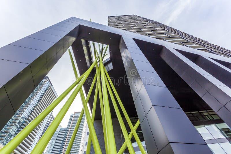 Σύγχρονη αρχιτεκτονική στο Τορόντο, Καναδάς στοκ εικόνες