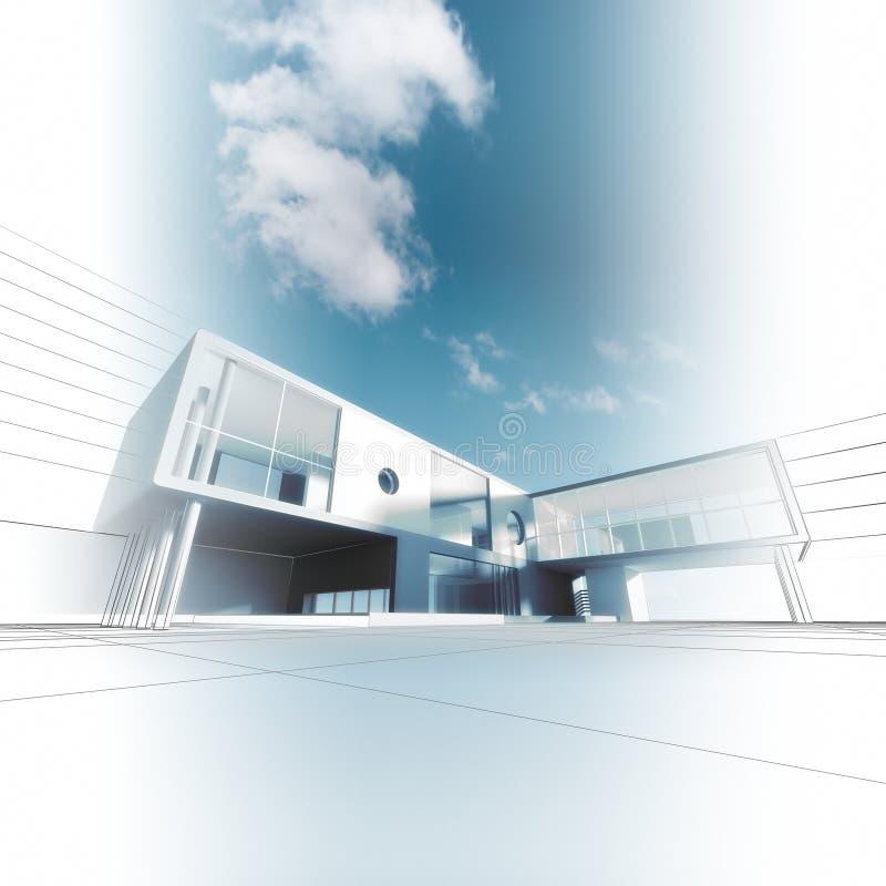 Σύγχρονη αρχιτεκτονική ελεύθερη απεικόνιση δικαιώματος