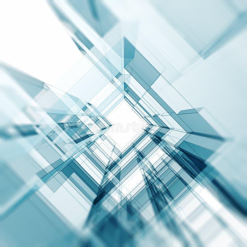 Σύγχρονη αρχιτεκτονική απεικόνιση αποθεμάτων
