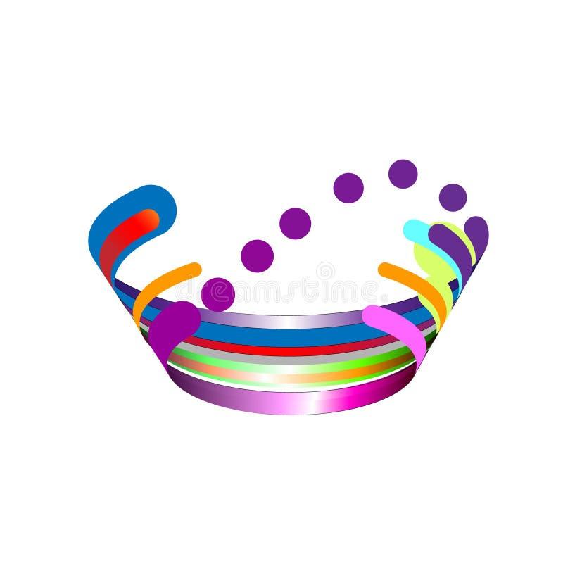 Σύγχρονη αφαίρεση, σύνθεση φιαγμένη από διάφορες στρογγυλευμένες μορφές στο χρώμα επίσης corel σύρετε το διάνυσμα απεικόνισης διανυσματική απεικόνιση