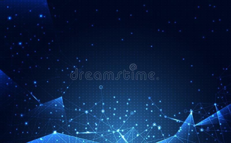 Σύγχρονη αφηρημένη τεχνολογία Διαδίκτυο α σύνδεσης επιστήμης δικτύων απεικόνιση αποθεμάτων