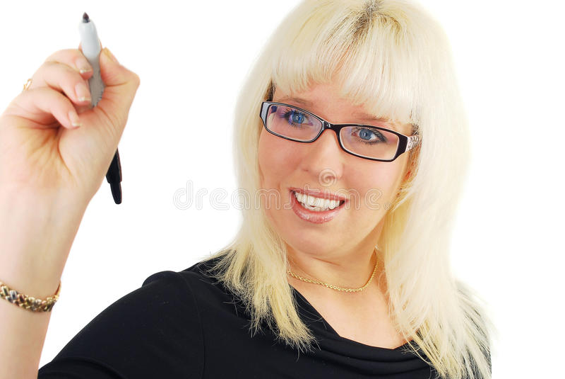 Download σύγχρονη γυναίκα επιχειρησιακών γυαλιών Στοκ Εικόνες - εικόνα από γυαλιά, χαμόγελο: 22796284