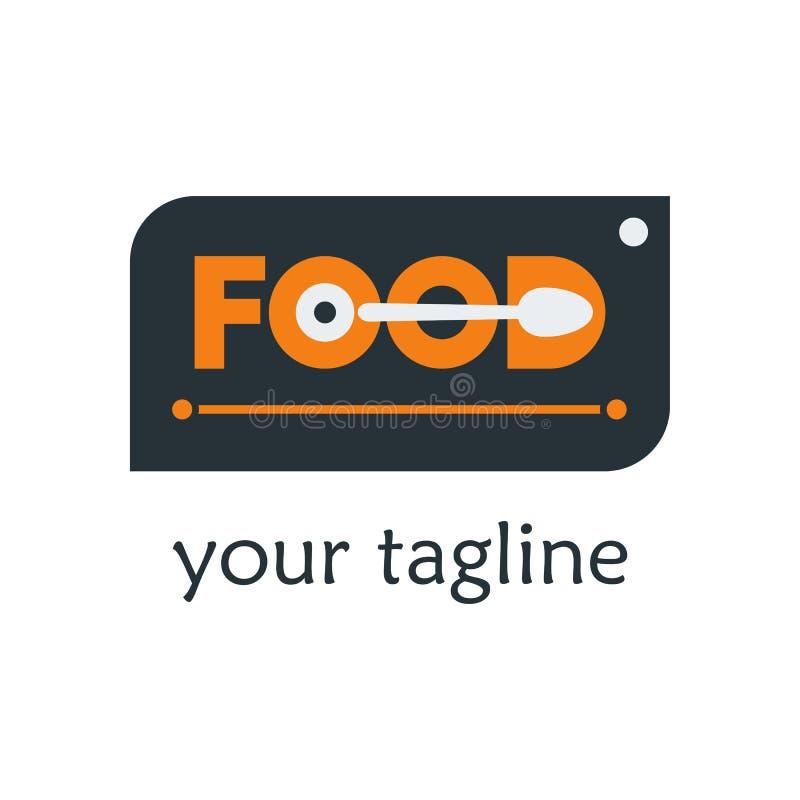 Σύγχρονη διανυσματική απεικόνιση προτύπων σχεδίου λογότυπων τροφίμων Τρόφιμα Logot διανυσματική απεικόνιση