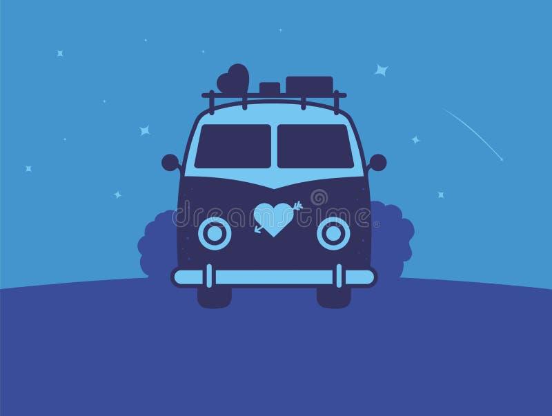 Σύγχρονη διανυσματική επαγγελματική αγάπη νύχτας λογότυπων σημαδιών διανυσματική απεικόνιση