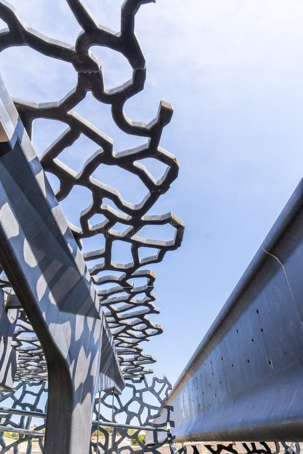 Σύγχρονη δομή του μουσείου Mucem στοκ εικόνες με δικαίωμα ελεύθερης χρήσης