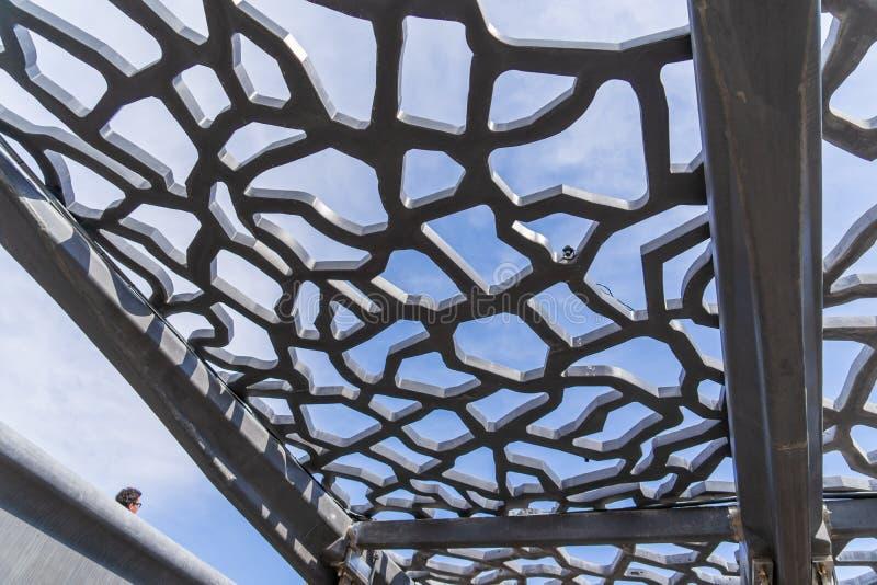 Σύγχρονη δομή του μουσείου Mucem στοκ εικόνες