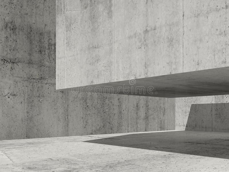 Σύγχρονη ελάχιστη αρχιτεκτονική, τρισδιάστατη ελεύθερη απεικόνιση δικαιώματος